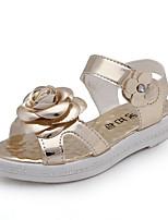 cheap -Girls' Shoes PU(Polyurethane) Summer Comfort Sandals Walking Shoes Flower / Magic Tape for Kids Gold / Pink