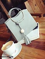 cheap -Women's Bags PU(Polyurethane) Tote Zipper Black / Blushing Pink / Gray