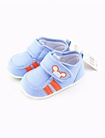 cheap -Girls' Shoes Cotton Spring / Fall First Walkers Sneakers Buckle for Baby Dark Blue / Blue / Pink
