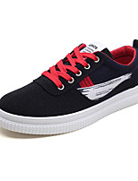 cheap -Men's Light Soles Canvas Summer Sneakers Black / Red / Black / Green / Black / Blue
