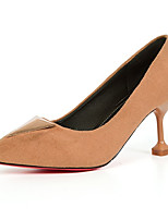 cheap -Women's Shoes PU(Polyurethane) Summer Basic Pump Heels Stiletto Heel Pointed Toe Beige / Pink / Light Brown / Party & Evening