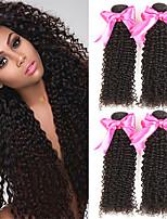 abordables -4 offres groupées Cheveux Indiens Bouclé Cheveux humains Tissages de cheveux humains / Extensions Naturelles 8-28 pouce Couleur naturelle Tissages de cheveux humains Sans bonnet Design Tendance