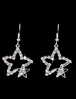 cheap -Women's Drop Earrings - Star Elegant Silver For Wedding / Evening Party