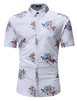 cheap -Men's Active Polo - Solid Colored / Floral / Color Block Daisy, Print