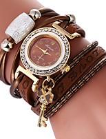 economico -Per donna Orologio braccialetto Cinese Orologio casual / Adorabile / imitazione diamante PU Banda Stile Boho / Elegante Nero / Bianco /
