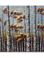 cheap -Oil Painting Hand Painted - Floral / Botanical Comtemporary / Modern Canvas