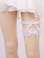 cheap -Georgette Leg Warmers / Boutique Wedding Garter 617 Lace-up Garters Wedding / Wedding Party