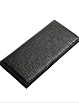 cheap -Men's Bags Polyester Wallet Zipper Black