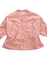 cheap -Kids Girls' Solid Colored / Geometric Long Sleeve Jacket & Coat