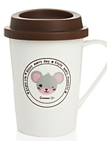 cheap -Drinkware Porcelain Coffee Mug Cartoon 1 pcs