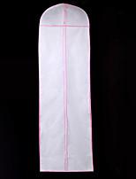 abordables -Une couche Moderne Voiles de Mariée Housses de vêtement Avec Couleur Unie 70,87 dans (180cm) Mélange de Polyester & Coton