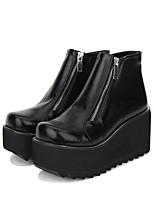 abordables -Chaussures Lolita Classique / Traditionnelle / Punk Punk / Gothique Creepers Chaussures Couleur Pleine 8 cm CM Noir Pour PU
