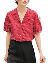 cheap -women's shirt - polka dot shirt collar