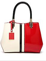 cheap -Women's Bags PU(Polyurethane) Tote Zipper Black / Red / Fuchsia