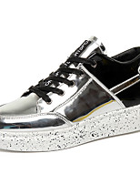 cheap -Men's PU(Polyurethane) Spring &  Fall Comfort Sneakers Silver / Black / Silver / Black / Red