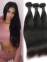 cheap -Brazilian Hair Straight Bundle Hair / One Pack Solution / Human Hair Extensions 3 Bundles 10-28 inch Human Hair Weaves Machine Made Silky / Natural / New Arrival Natural Black Human Hair Extensions