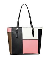 cheap -Women's Bags PU(Polyurethane) Shoulder Bag Zipper Blushing Pink / Gray