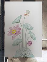 Недорогие -Оконная пленка и наклейки Украшение С цветами Цветочный принт ПВХ Антибликовая