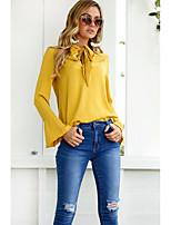 preiswerte -Damen Solide - Grundlegend T-shirt mit Schnürung