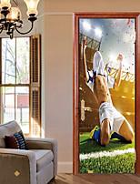 abordables -Calcomanías Decorativas de Pared / Pegatinas de puerta - Holiday pegatinas de pared Fútbol Americano / 3D Sala de estar / Dormitorio