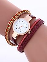 baratos -Mulheres Bracele Relógio Chinês Relógio Casual / Adorável / imitação de diamante PU Banda Boêmio / Fashion Preta / Branco / Azul