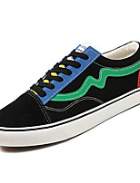 cheap -Men's Shoes Canvas / PU(Polyurethane) Fall Comfort Sneakers Black / White / Black / Green
