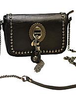 cheap -Women's Bags PU(Polyurethane) Shoulder Bag Beading Black
