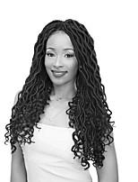 economico -Capelli intrecciati Ondulato Trecce Twist / Ricci intrecciati / Trecce Crochet pre-ciclo Capelli sintetici 1 pezzo, 24 radici / confezione capelli Trecce 45cm Estensioni di Dreadlock / 100% capelli