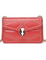 cheap -Women's Bags PU(Polyurethane) Shoulder Bag Buttons Red / Gray / Brown