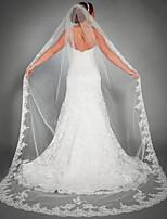 abordables -Une couche A Fleurs / Maille / Robe Convertible Voiles de Mariée Voiles chepelle Avec Motif floral perlé & dispersé 110,24 à (280cm) Polyester / Tulle