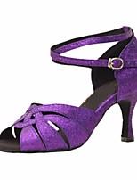 cheap -Women's Latin Shoes PU(Polyurethane) Heel Slim High Heel Dance Shoes Purple / Performance / Leather / Practice
