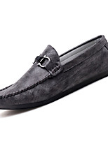 cheap -Men's Shoes PU(Polyurethane) Fall Moccasin Loafers & Slip-Ons White / Black / Gray