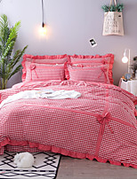 cheap -Duvet Cover Sets Stripes / Ripples Polyster Yarn Dyed 4 Piece