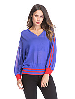 cheap -Women's Active T-shirt - Striped Cut Out