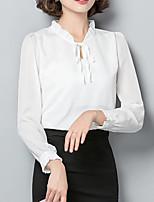 baratos -Mulheres Blusa Negócio / Moda de Rua Sólido
