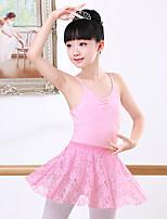 abordables -Danse classique Tenue Fille Entraînement / Utilisation Coton Dentelle / Ruché Sans Manches Taille moyenne Jupes / Collant / Combinaison