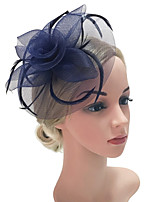 cheap -Women's Vintage / Elegant Hair Clip / Fascinator - Solid Colored Mesh