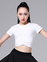 cheap -Latin Dance Tops Women's Performance Modal Ruching Short Sleeve Top