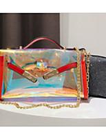 cheap -Women's Bags PU(Polyurethane) Shoulder Bag Zipper Black / Red / Light Grey