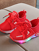 cheap -Boys' / Girls' Shoes Mesh Spring / Fall / Spring & Summer Comfort / Light Up Shoes Sneakers Lace-up / LED for Kids / Baby Black / Red / Pink