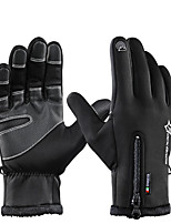abordables -ROCKBROS Doigt complet Unisexe Gants de moto Flanelle Etanche / Garder au chaud / Respirable