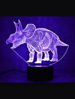 economico -1set 3D Nightlight Cambia USB Touch Sensor / Colore variabile / Con porta USB