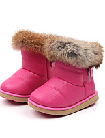 cheap -Girls' Shoes PU(Polyurethane) Spring & Summer Comfort / Snow Boots Boots Walking Shoes Feather for Kids Black / Fuchsia / Pink / Booties / Ankle Boots