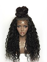 cheap -Synthetic Lace Front Wig Curly Layered Haircut Synthetic Hair Natural Hairline Black Wig Women's Long Lace Front / Yes