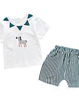 cheap -Baby Unisex Print Short Sleeve Clothing Set