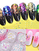 cheap -6 pcs Nail Glitter Retro Nail Art Design Luminous Wedding Party / Daily Wear / Festival