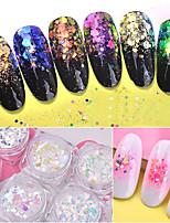economico -6 / 6pcs Glitter Luminoso manicure Manicure pedicure Retrò Ricevimento di matrimonio / Da tutti i giorni / Festival