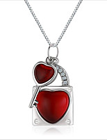 cheap -Women's Onyx Pendant Necklace - Sterling Silver European, Fashion Wine 2 cm Necklace 1pc For Wedding, Daily