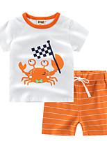 cheap -Toddler Boys' Striped / Print Short Sleeve Clothing Set