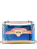 economico -Per donna Sacchetti PVC Borsa a tracolla Set di borsa da 2 pezzi Borchie Arcobaleno